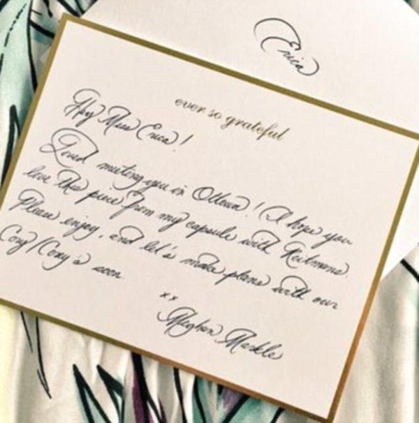 Meghan Markle's Calligraphy